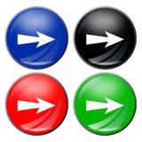 button strzała Fotografia Stock