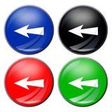 button strzała Zdjęcia Stock