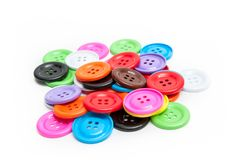 Button stud. Colorful Button stud, baby toys, skills royalty free stock photography