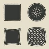 Button stylized icons set Royalty Free Stock Photos