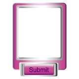 The button submit. And a window for the description Royalty Free Stock Images