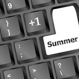 Button summer on computer keyboard Stock Image
