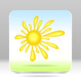 Button Sun Royalty Free Stock Images