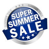 Button Super Summer Sale Stock Photography
