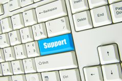 Button support Royalty Free Stock Photography