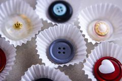 button sweets collection cookie cake candy Royalty Free Stock Images