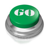 Button or switch with text Go Royalty Free Stock Photography