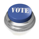 Button or switch with text VOTE. Blue button switch with work VOTE on white background Stock Photos