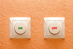 Button switch on a wall Royalty Free Stock Photography
