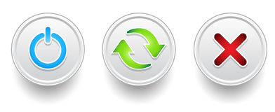 Button symbol. Update power sync Royalty Free Stock Photo