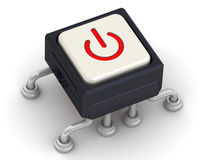 The button with the symbol of powering Royalty Free Stock Photo