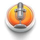 button symbolen mic stock illustrationer