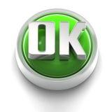 button symbolen ok Fotografering för Bildbyråer