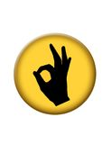 button symbolen ok Royaltyfria Bilder