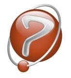 button tecknet för red för frågan för symbolsutfrågningsfläcken Stock Illustrationer