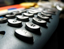 Button of telephone keypad Stock Photos
