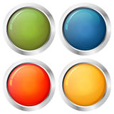 Button template four colors Royalty Free Stock Images