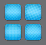 Button templates. Blank blue button templates. Vector illustration vector illustration