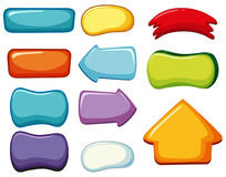 Button templates in different colors Royalty Free Stock Photos
