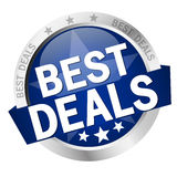 Button with text Best Deals Stock Images