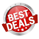 Button with text Best Deals Royalty Free Stock Image