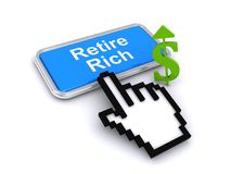Retire rich Royalty Free Stock Images