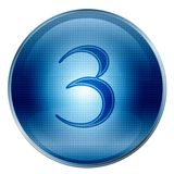 The button three blue Royalty Free Stock Image