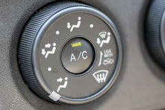 Button to adjust the level of air conditioning. Royalty Free Stock Images