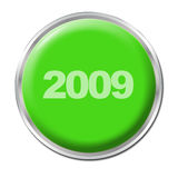 Button To Start the New Year Stock Photography