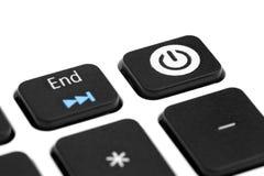 Button to start your computer Stock Photos