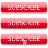 Button to subscribe set Stock Photos