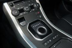 Button to switch the transmission Stock Image