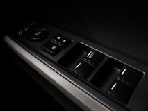 Button to turn off the car window. Royalty Free Stock Images