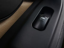 Button to turn off the car window. Stock Images