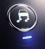 Button with traction control symbol Stock Image