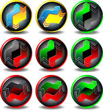 Button trading. Button for Web pages, convert money vector illustration