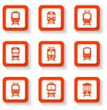 Button trains set Royalty Free Stock Photos