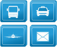 Button with transport shipping sign Royalty Free Stock Photos