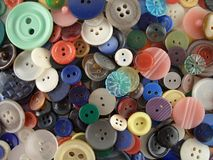 Button treasure. Buttons on a table Stock Images