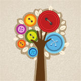 Button tree Stock Photo