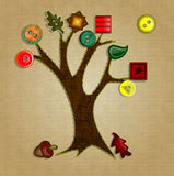 Button Tree Fall Royalty Free Stock Image