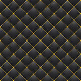 Button-tufted black leather background Royalty Free Stock Images