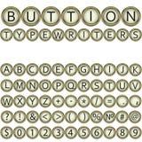 Button typewriters font Stock Photo