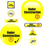 Button under construction website icon Royalty Free Stock Photos
