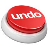 Button undo Stock Image