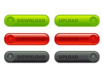 Button upload-download Royalty Free Stock Photography