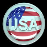 The button USA Royalty Free Stock Images