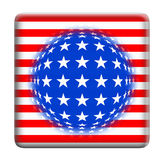 Button USA flag fantasy Royalty Free Stock Photos