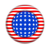 Button USA flag fantasy Royalty Free Stock Image