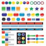 Button vector Stock Image